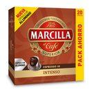 MARCILLA café intenso 20 cápsulas caja 104 gr