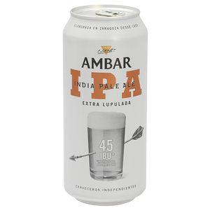 AMBAR cerveza ipa lata 44 cl