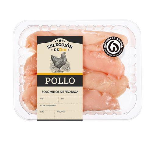 SELECCIÓN DE DIA solomillo de pollo bandeja (peso aprox. 550 gr)