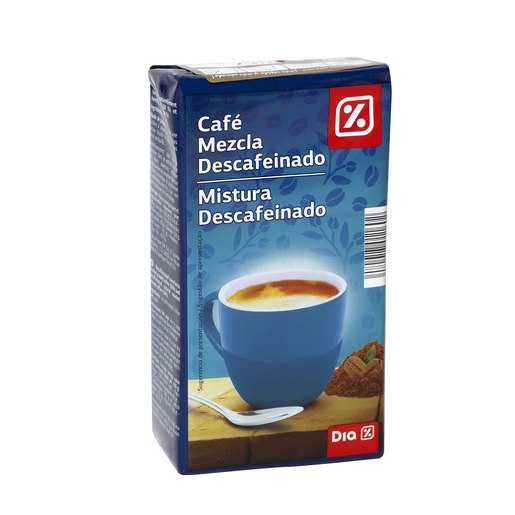 DIA café molido mezcla descafeinado paquete 250 gr
