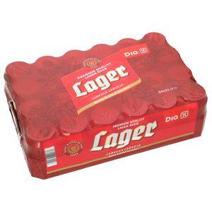 DIA cerveza lager pack 24 latas 33 cl
