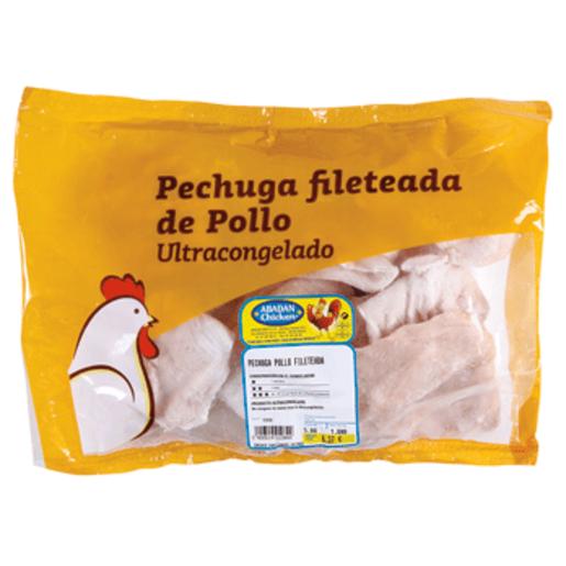 Pechuga de pollo fileteada bolsa (peso aprox. 1.1 Kg)