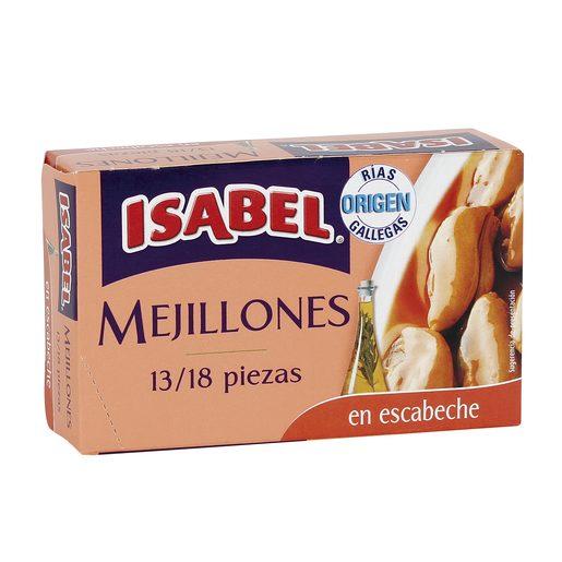 ISABEL mejillones en escabeche 13/18 piezas lata 69 gr