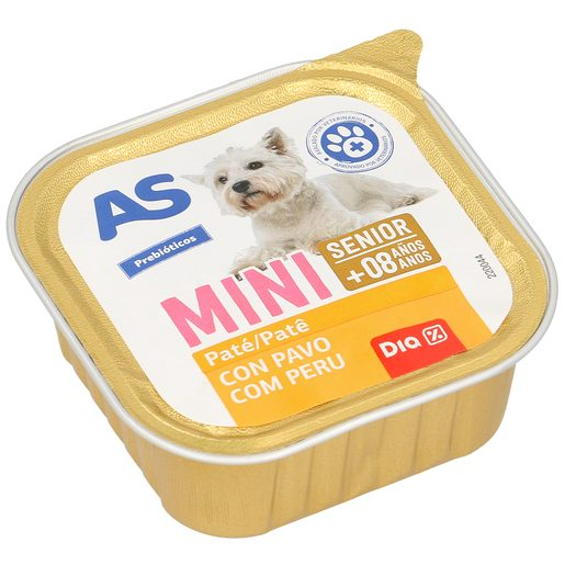 AS alimento para perros senior con carne tarrina 150 gr