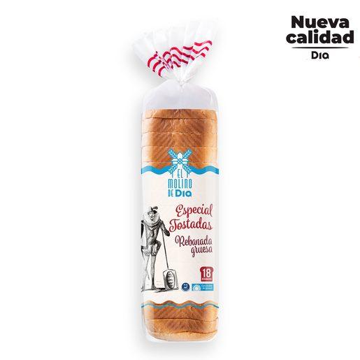 EL MOLINO DE DIA pan de molde especial tostadas bolsa 820 gr