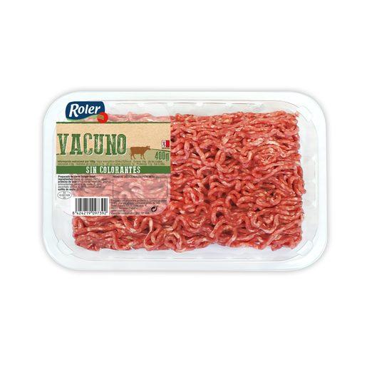 ROLER preparado de carne picada de vacuno bandeja 400 gr