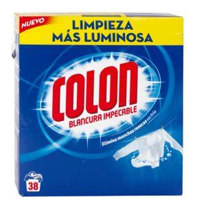 COLON detergente máquina polvo maleta 30 + 8 cacitos