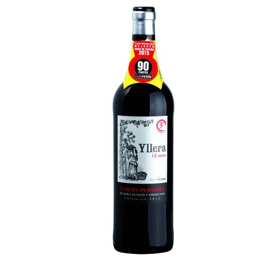 YLLERA vino tinto 12 meses botella 75 cl