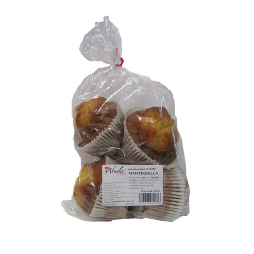 LA ABUELA magdalenas con mantequilla bolsa 450 gr