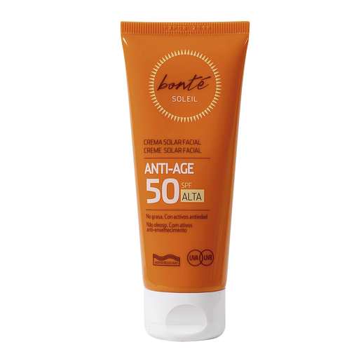 BONTE crema solar facial antiedad protección alta 50 spf tubo 75 ml