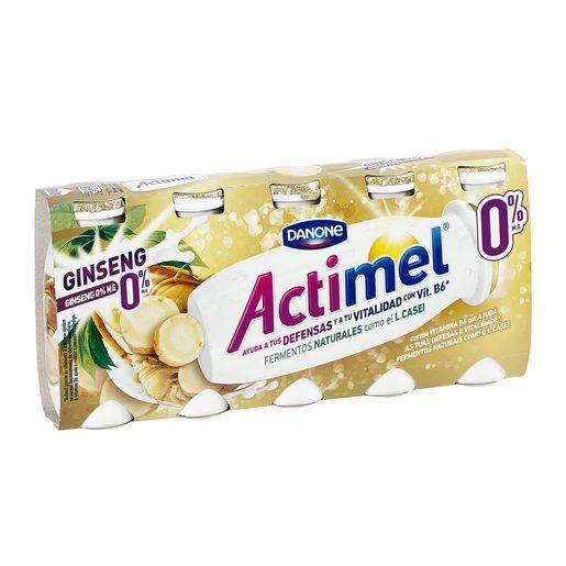DANONE ACTIMEL yogur líquido ginseng 0% M.G. pack 5 unidades 100 gr