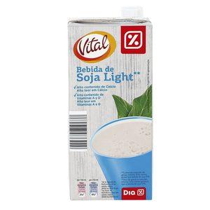 DIA VITAL bebida de soja light envase 1 lt