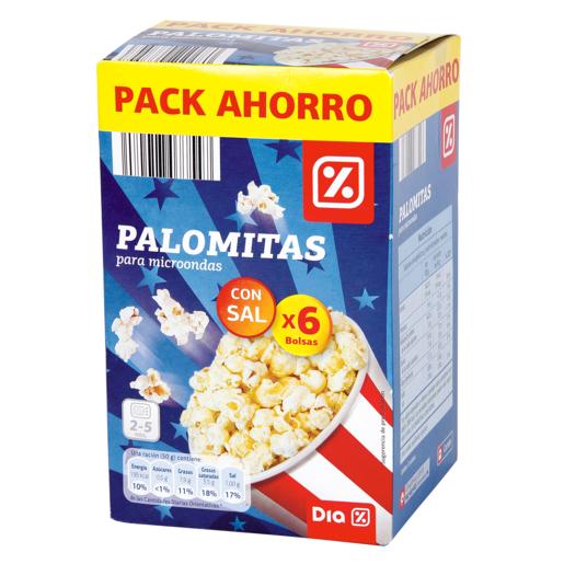DIA palomitas sal pack-6 caja 600GR