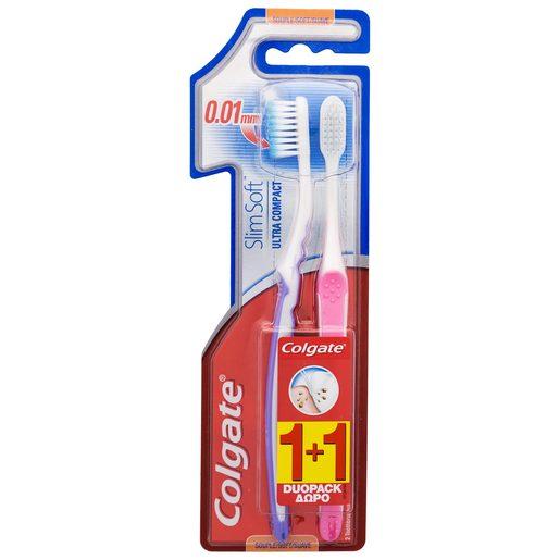 COLGATE cepillo dental slim soft blíster 2 uds
