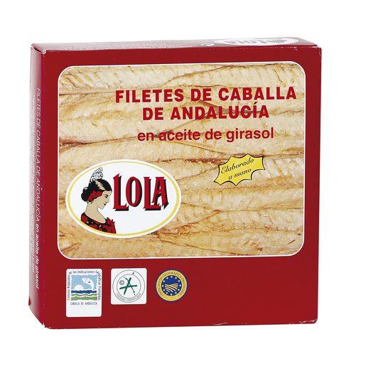 LOLA filetes de caballa en aceite de girasol lata 185 gr