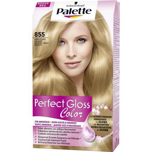 PALETTE PERFECT GLOSS tinte Rubio Claro Soleado Nº 855 caja 1 ud