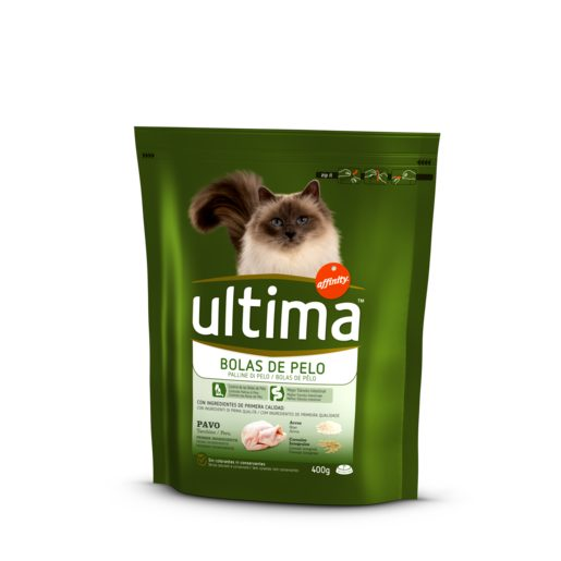 ULTIMA alimento para gatos control bolas de pelo affinity bolsa 400 gr