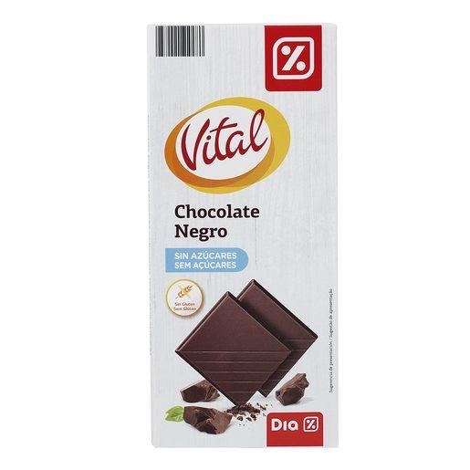 DIA VITAL chocolate negro sin azúcares tableta 100 gr