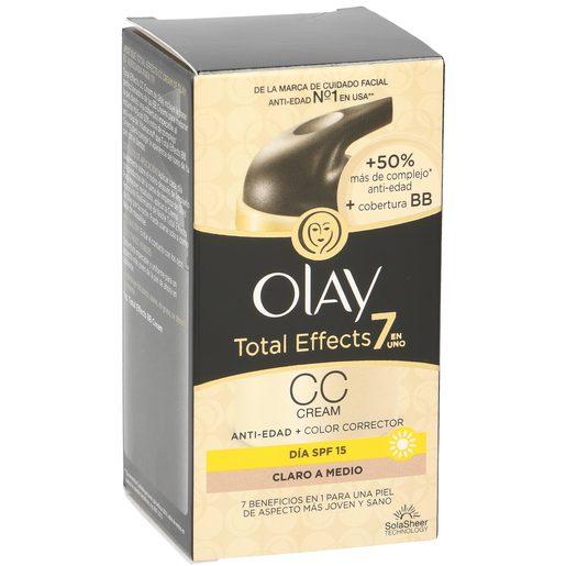 OLAY Total effects 7 en 1 crema CC tono claro a medio antiedad caja 50 ml