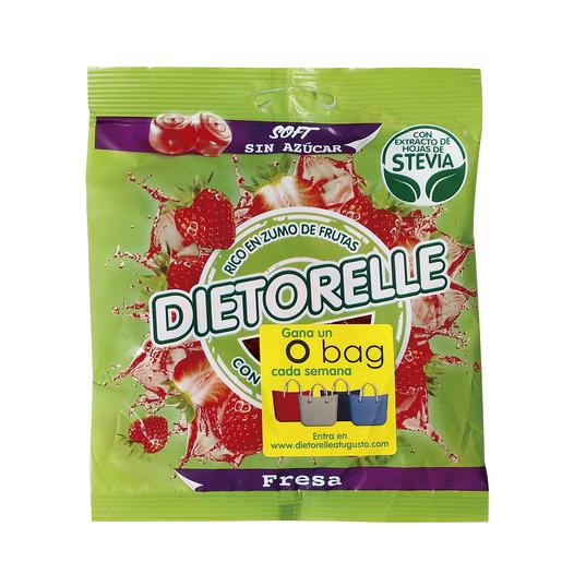 DIETORELLE caramelos blandos sin azúcar sabor fresa bolsa 70 gr