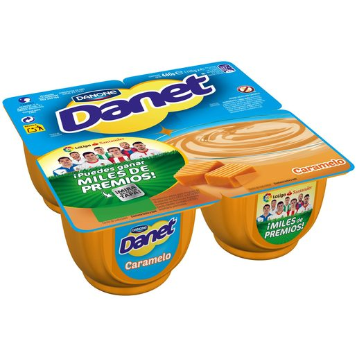 DANONE DANET crema caramelo pack4 uds 115 gr