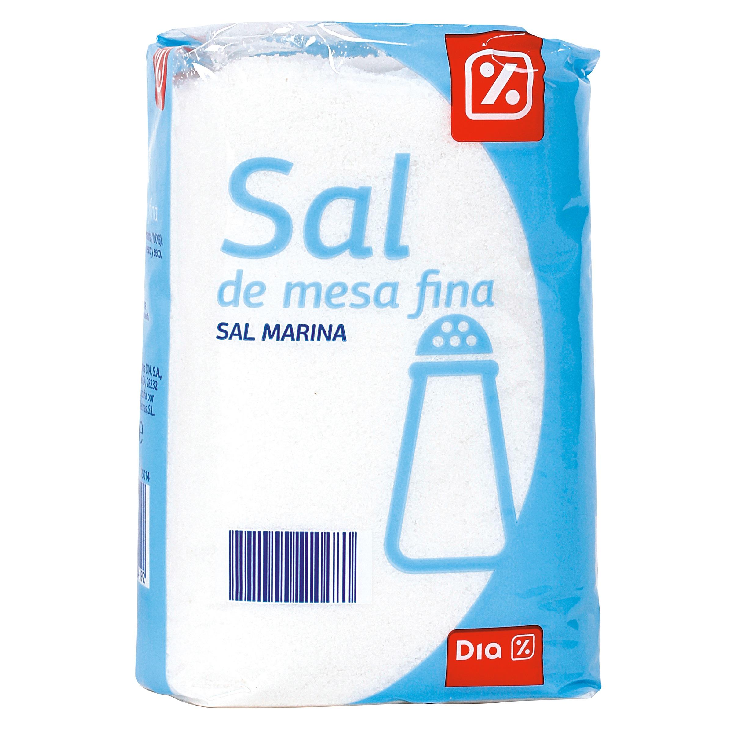 Dia sal de mesa fina paquete 1 kg sal supermercados dia - Sal para piscinas precio ...