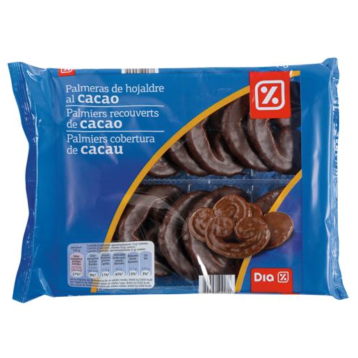DIA palmeras de hojaldre al cacao bolsa 260 gr