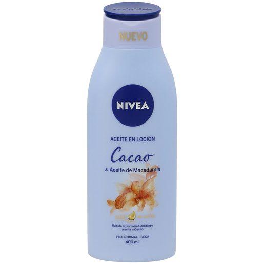 NIVEA aceite en loción cacao piel normal seca bote 400 ml