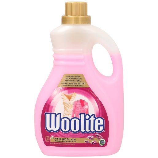 WOOLITE detergente máquina líquido ropa delicada y lana botella 30 lv