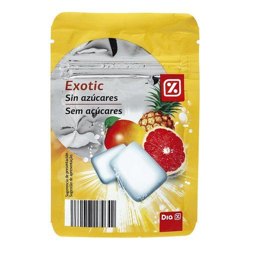DIA chicle exotic sin azúcares bolsa 42 gr