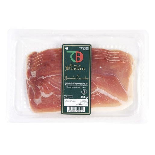 TRONCO BRETAN jamón curado lonchas lonchas sobre 100 g