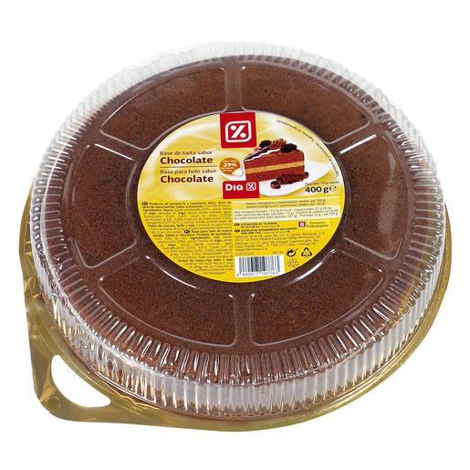 DIA base de tarta redonda sabor chocolate envase 400 gr