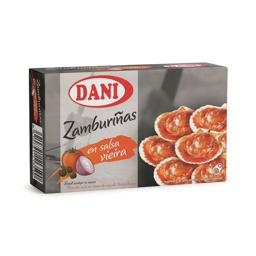 DANI zamburiñas en salsa de vieira lata 63 g