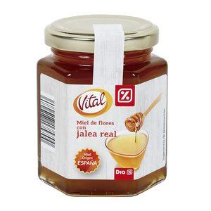 DIA VITAL miel de flores con jalea real frasco 250 gr
