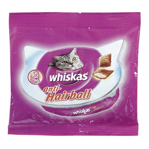 WHISKAS snack para gatos anti bolas de pelo bolsa 32 gr