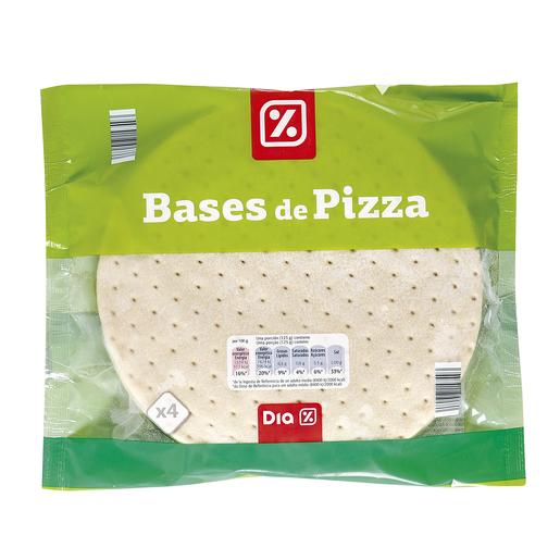 DIA bases de pizza envase 4 unidades 500 gr