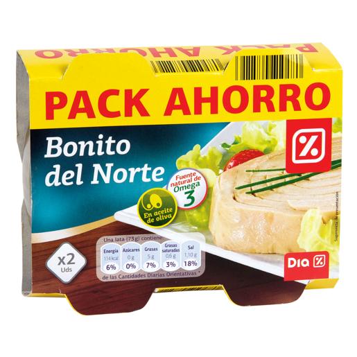 DIA bonito en aceite de oliva pack de 2 latas x 72 grs