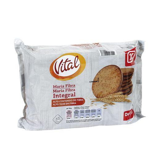 DIA VITAL galletas maría fibra integral paquete 600 gr