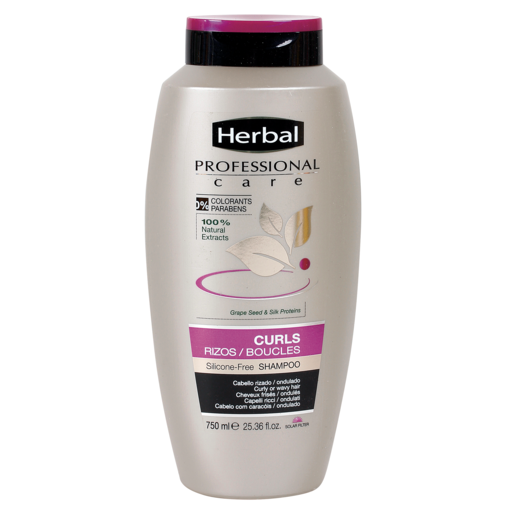 HERBAL Professional care champú cosa de rizos cabello rizos/ondulado bote 750 ml