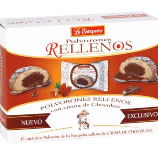 LA ESTEPEÑA polvorón rellenos con crema de chocolate caja 250 gr