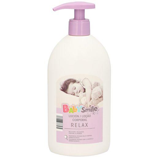 BABYSMILE loción hidratante baby lavanda botella 500ml