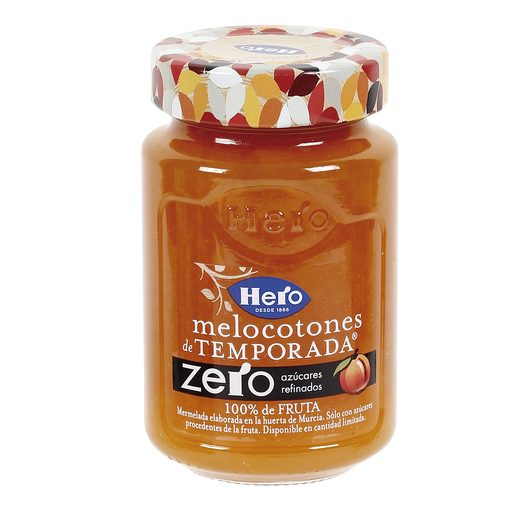 HERO Zero mermelada de melocotones de temporada frasco 285 gr