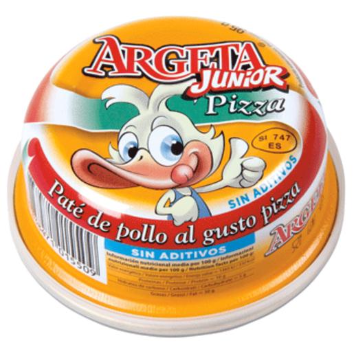 ARGETA junior paté de pollo al gusto pizza lata 95 gr