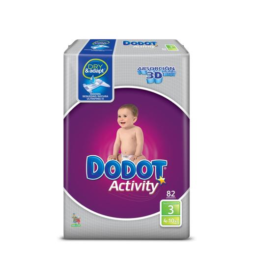 DODOT Activity pañales 4-10 kgs talla 3 paquete 82 uds