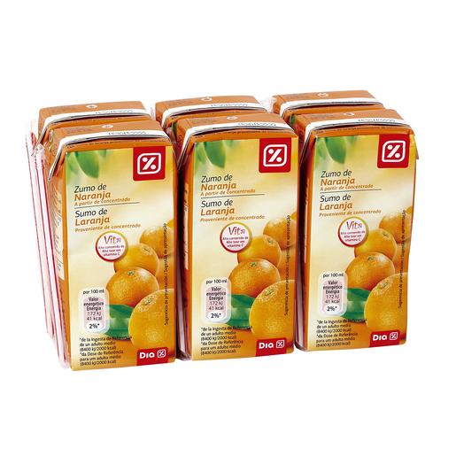 DIA zumo de naranja  pack 6 unidades 200 ml