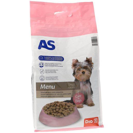 AS alimento para perros de razas pequeñas con carne y arroz bolsa 4 Kg