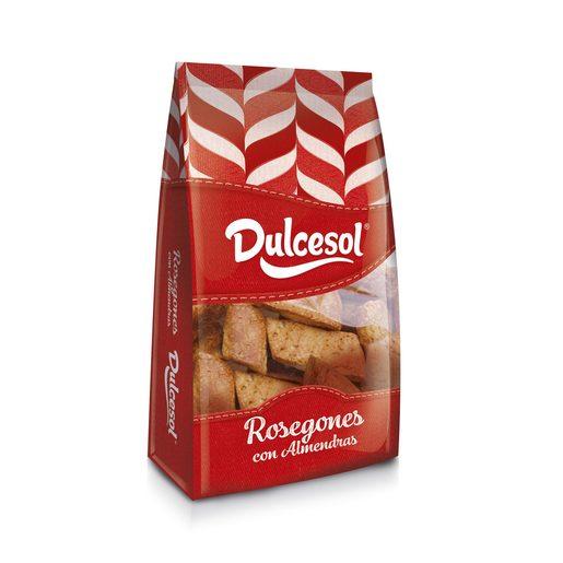 DULCESOL rosegones de almendra paquete 250 gr