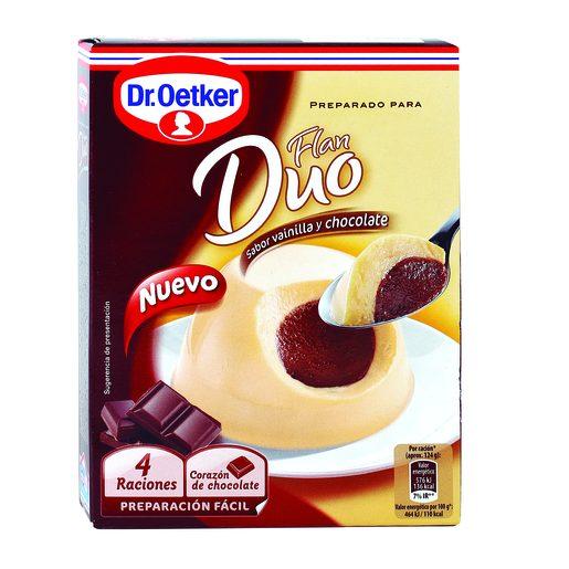 DR. OETKER preparado para flan duo vainilla y chocolate caja 92 gr