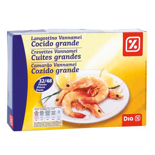 DIA langostino cocido grande 32/48 caja 800 gr