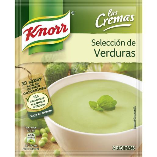 KNORR crema selección de verduras sobre 76 gr